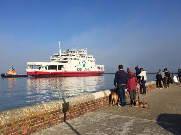 Ferry collides with yachts, runs aground near Isle of Wight