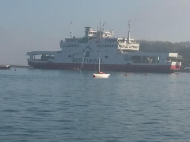 Passengers 'safely discharged' after ferry runs aground off Isle of Wight